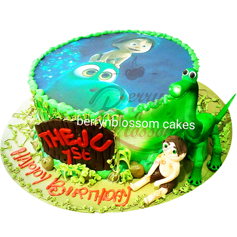 Brilliant Bnb B075 Good Dinosaur Cake Berry N Blossom Personalised Birthday Cards Vishlily Jamesorg