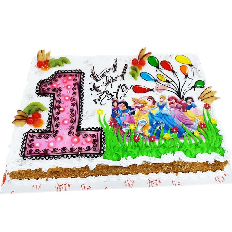 Strange Bnb R054 One Princess Photo Cake Berry N Blossom Funny Birthday Cards Online Alyptdamsfinfo